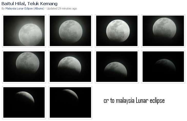 gerhana bulan, gerhana bulan di negeri sembilan gambar gerhana bulan di melaka 10 disember 2011